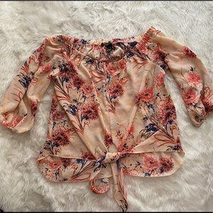 2/$20 Floral blouse revamp